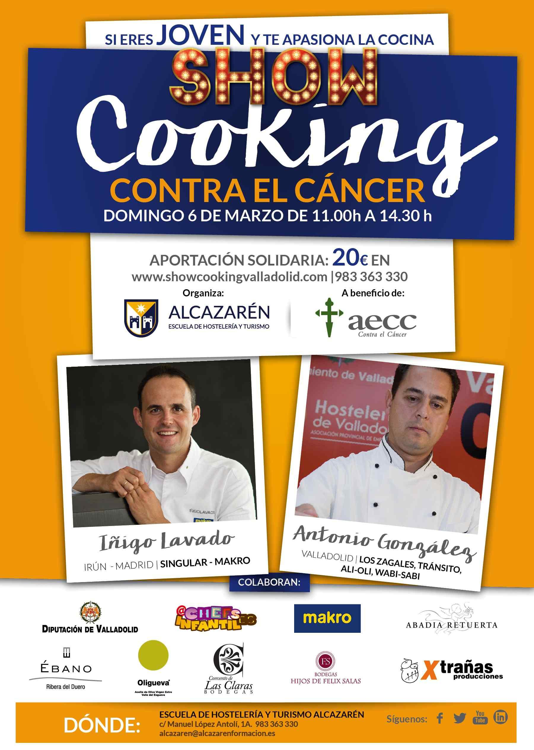 Showcooking solidario contra el cáncer infantil: gastronomía y formación unidas por una buena causa