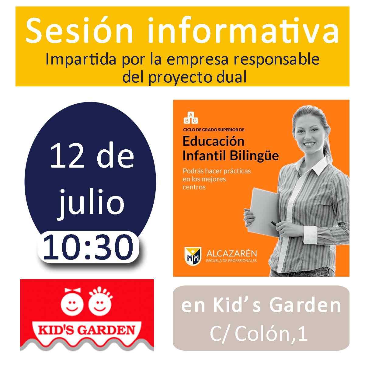 Sesión informativa sobre el proyecto dual del Grado Superior de Educación Infantil Bilingüe en Kid's Garden