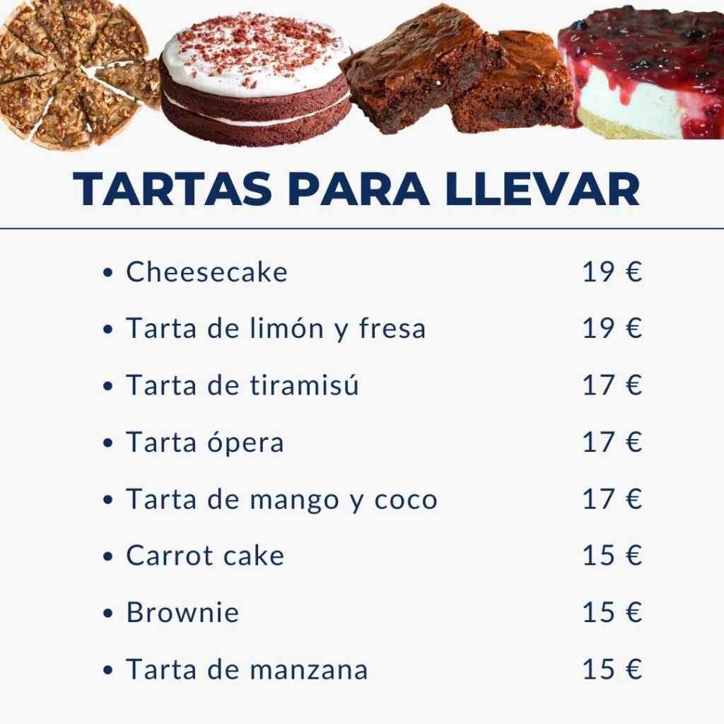 tartas para llevar