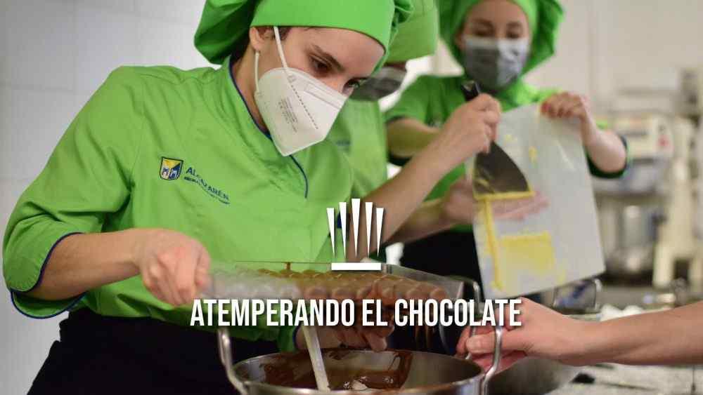 atemperado de chocolate